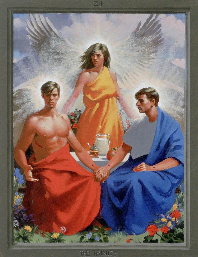 Jesus Painting - 24. The Trinity / From The Passion Of Christ - A Gay Vision by Douglas Blanchard