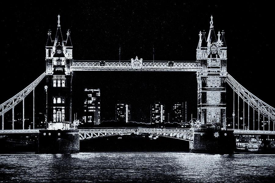 Bridge Digital Art - Tower Bridge Art by David Pyatt