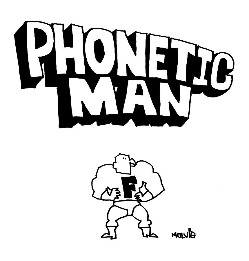 Phonetic Man Drawing by Ariel Molvig