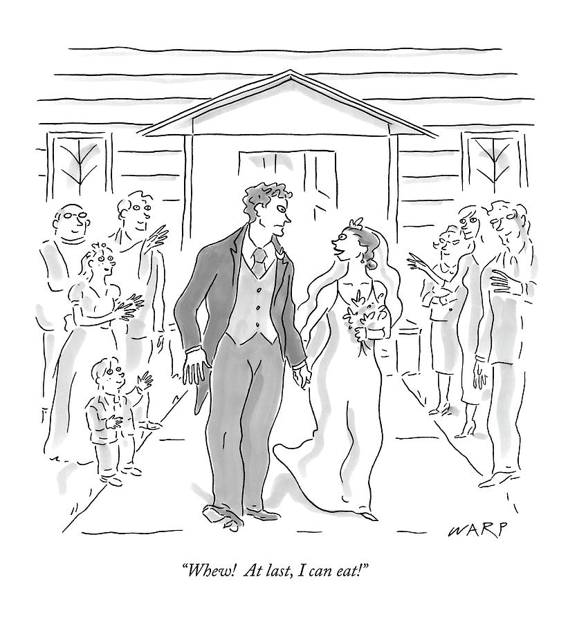 Wedding Drawing - Whew!  At Last by Kim Warp