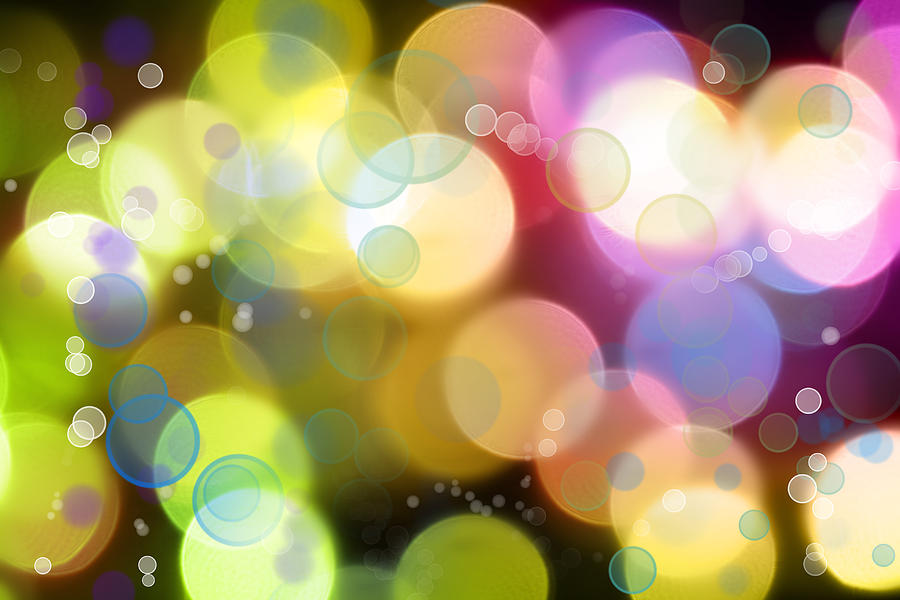 Colorful Photograph - Abstract Background by Les Cunliffe