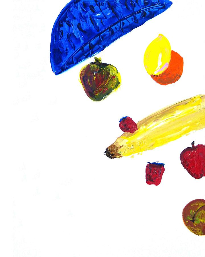 Still Life Painting - 248 Spilled Life With Fruit by Aaron Aadamson