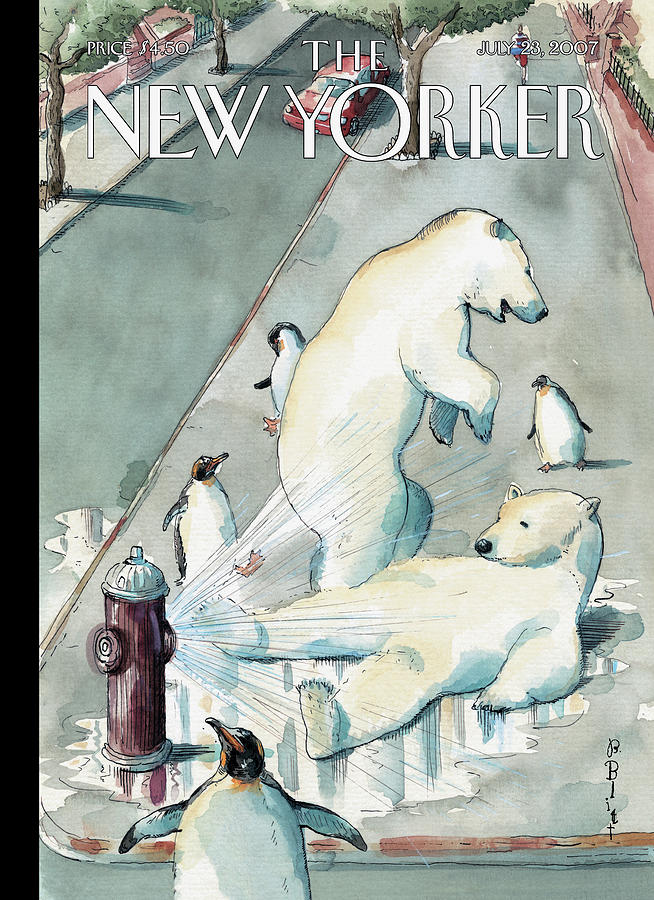 Cooling Off Painting by Barry Blitt