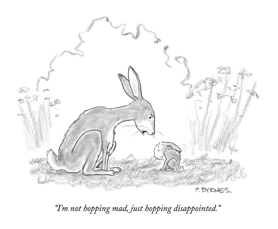 Im Not Hopping Mad Drawing by Pat Byrnes