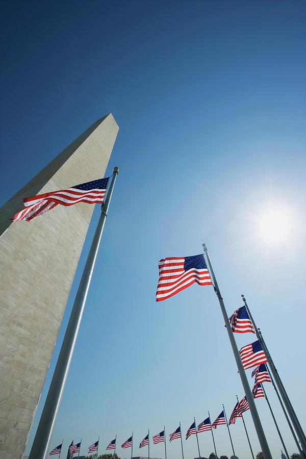 American Flag Photograph - Usa, Washington, D by Jaynes Gallery