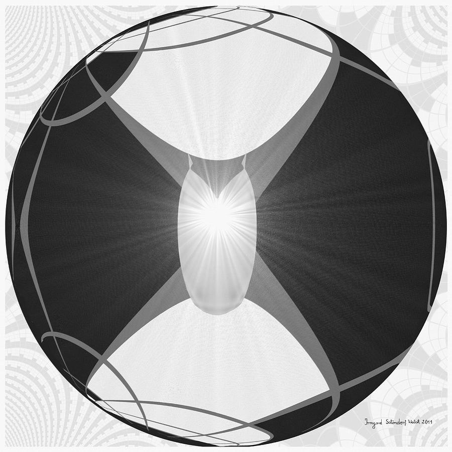 Deco Digital Art - 250 - The Center   by Irmgard Schoendorf Welch