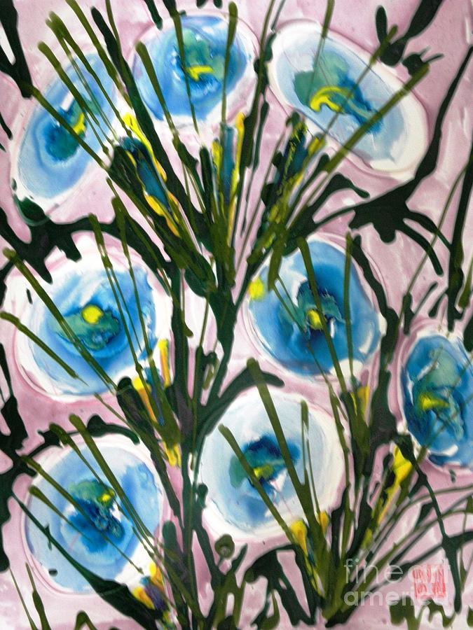 Floral Painting - Zenmoksha Flowers by Baljit Chadha