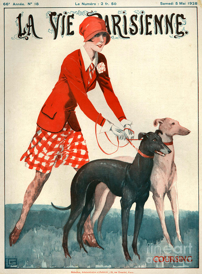 France Drawing - 1920s France La Vie Parisienne Magazine 254 by The Advertising Archives