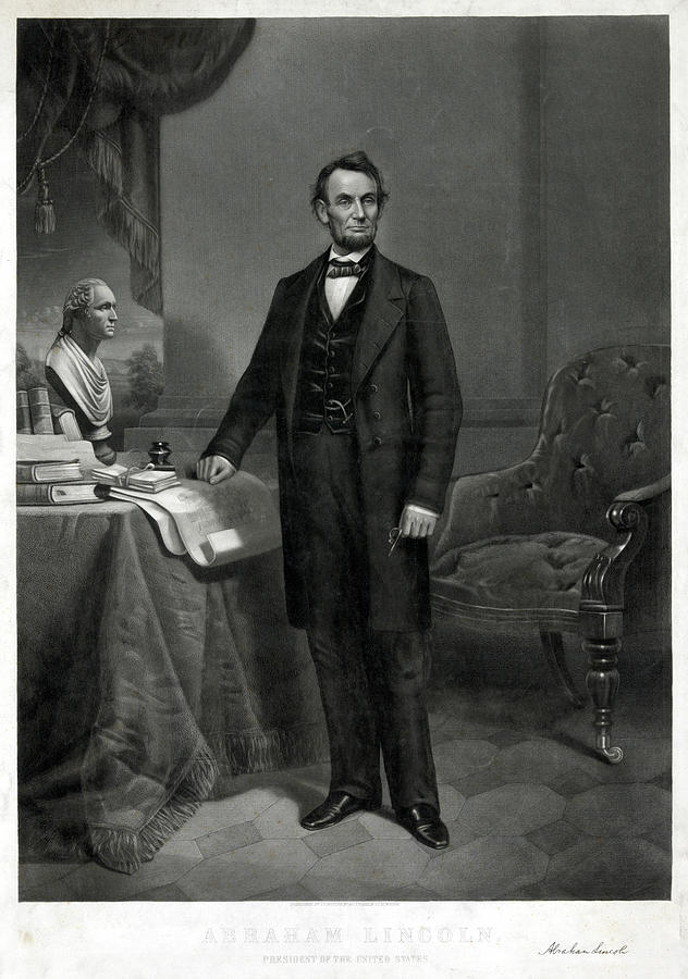 19th Century Painting - Abraham Lincoln (1809-1865) by Granger