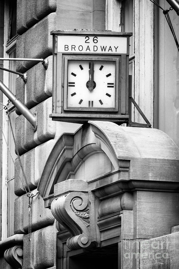 Manhattan Photograph - 26 Broadway B And W by Jerry Fornarotto