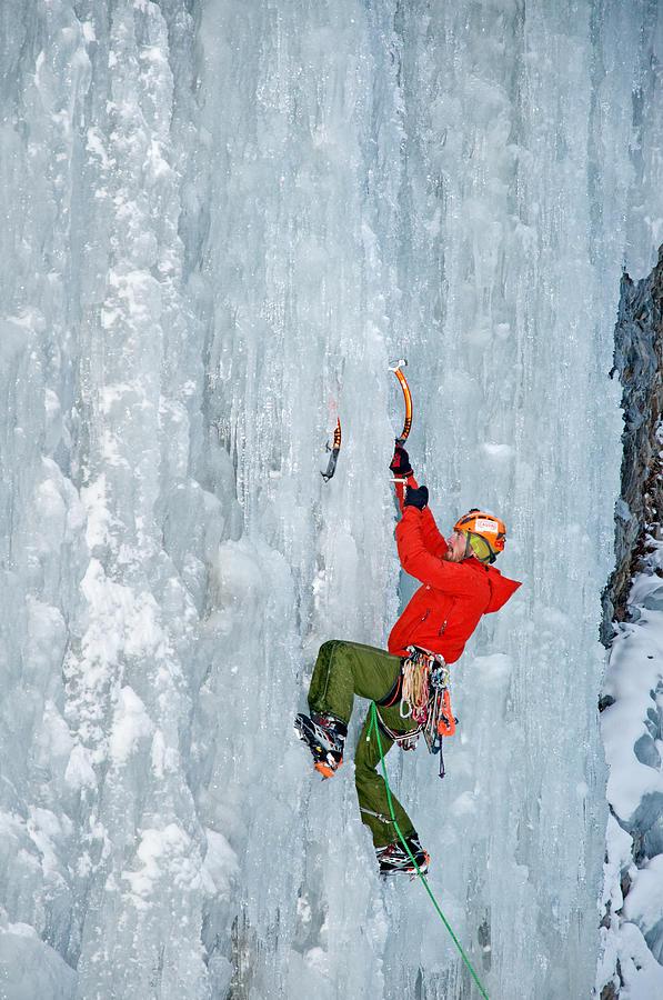 Ice Climbing Photograph - Ice Climbing by Elijah Weber