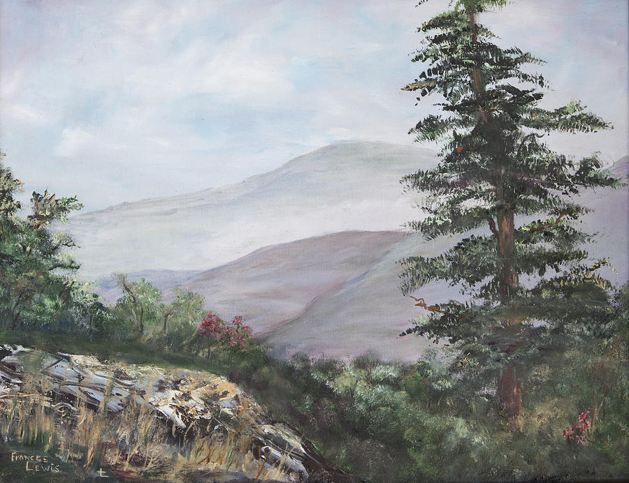 Tennessee Painting - The Smokies by Frances Lewis