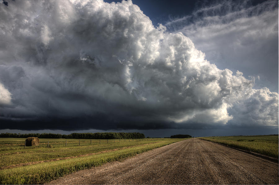 Prairie Storm Clouds Photograph by Mark Duffy