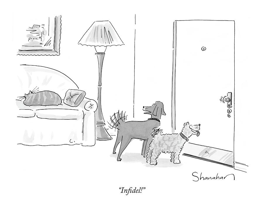 Infidel! Drawing by Danny Shanahan