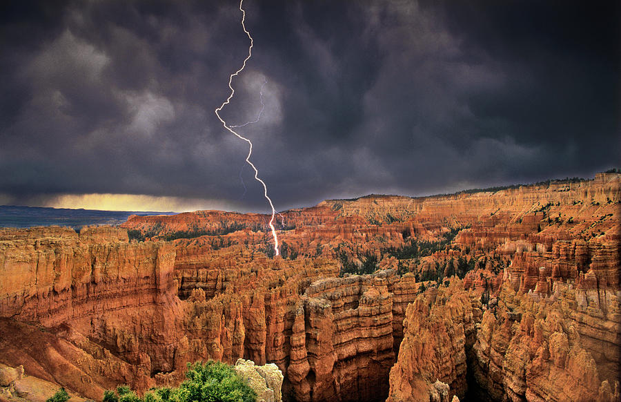 Action Photograph - Usa, Utah, Bryce Canyon National Park by Jaynes Gallery