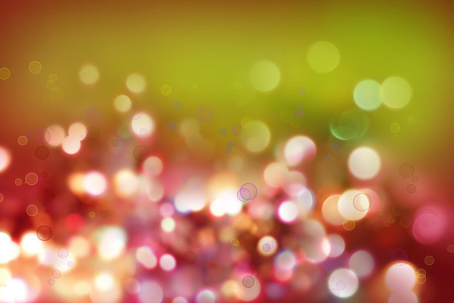 Christmas Photograph - Abstract Background by Les Cunliffe