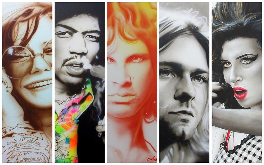 Jimi Hendrix Painting - 27 Eternal by Christian Chapman Art