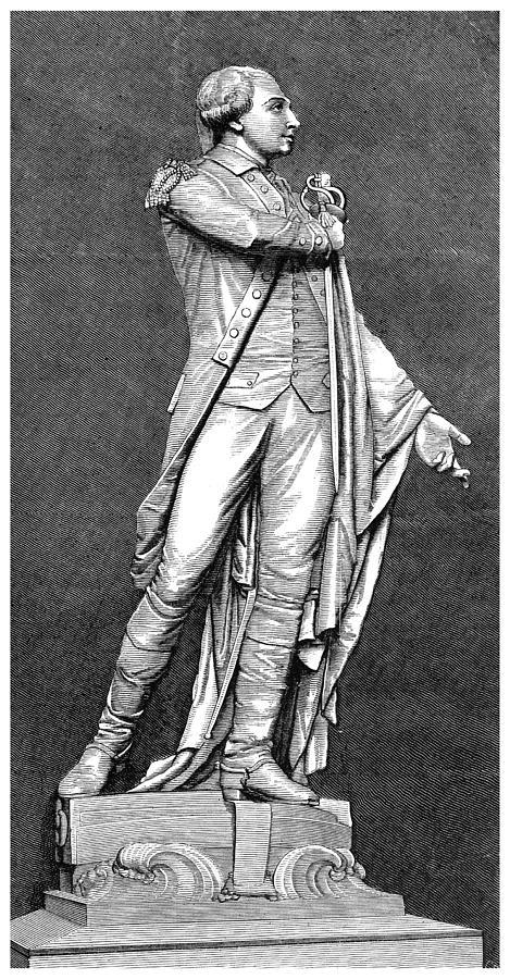 1876 Photograph - Marquis De Lafayette by Granger