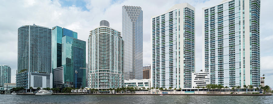 Horizontal Photograph - Skyscrapers At The Waterfront by Panoramic Images