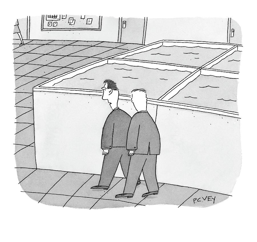 Its Time To Restock The Cubicles Drawing by Peter C. Vey