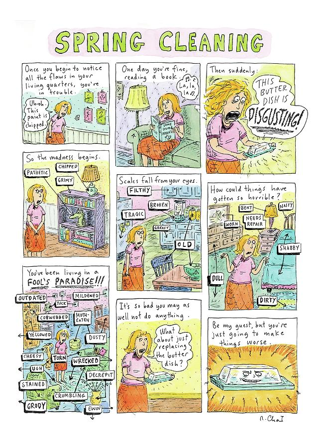 Spring Cleaning Drawing by Roz Chast