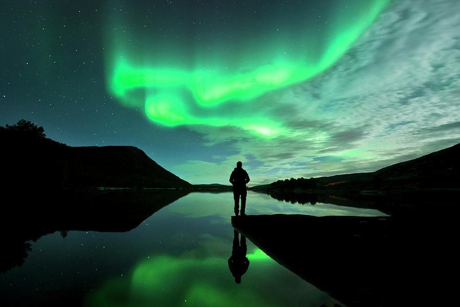 People Photograph - Aurora Borealis by Tommy Eliassen