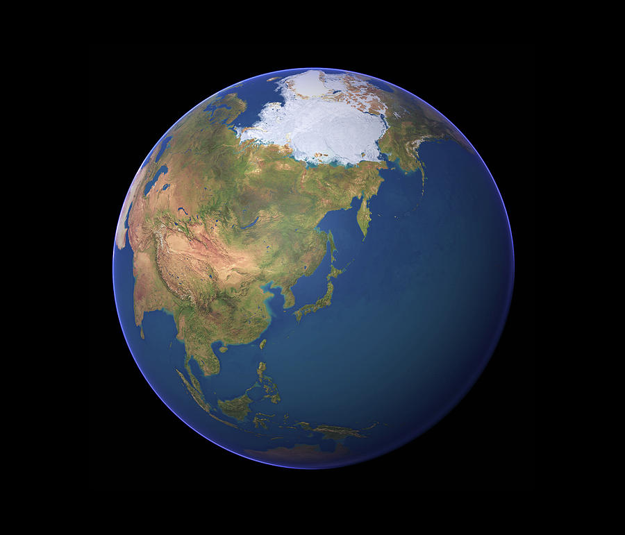 Geography Photograph - Earth by Planetary Visions Ltd/science Photo Library