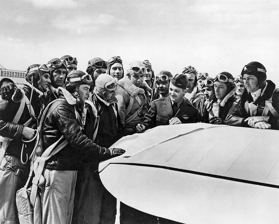 1942 Photograph - Navy Pilots Training by Underwood Archives
