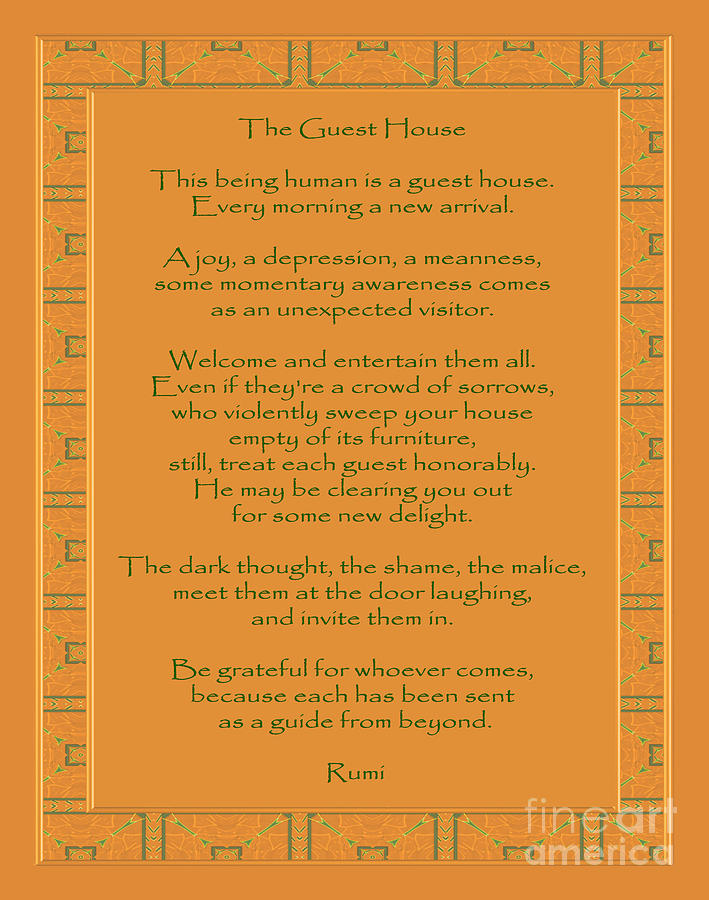 Rumi Photograph - 29- The Guest House by Joseph Keane