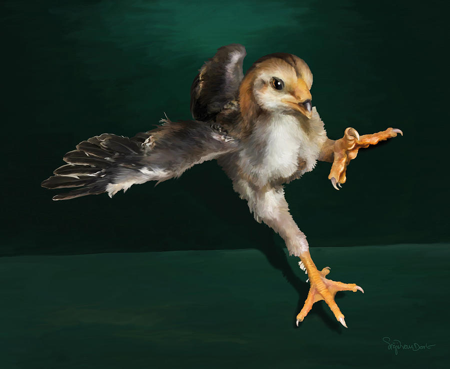 Chicken Digital Art - 29. Yamato Chick by Sigrid Van Dort