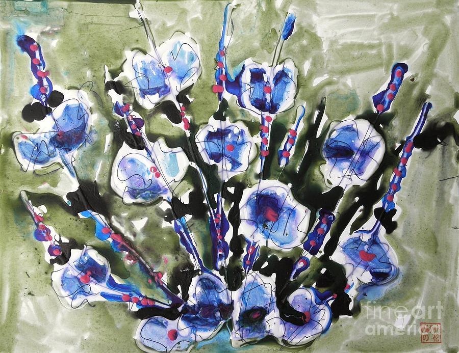 Zenmoksha Flowers Painting