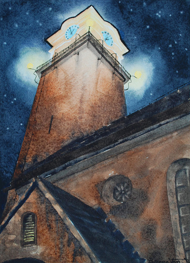 Watercolor Painting Painting - 2AM by Zuzana Vass