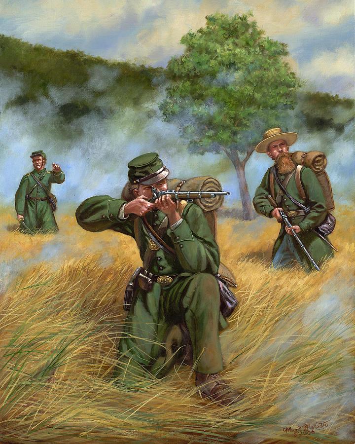 Maritato Painting - 2nd United States Sharpshooters Berdans by Mark Maritato