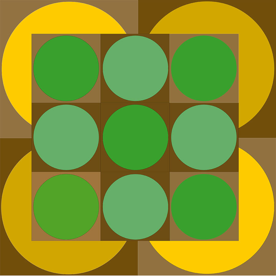 Circles Photograph - 2x2vasarelyh by Robert Van Es