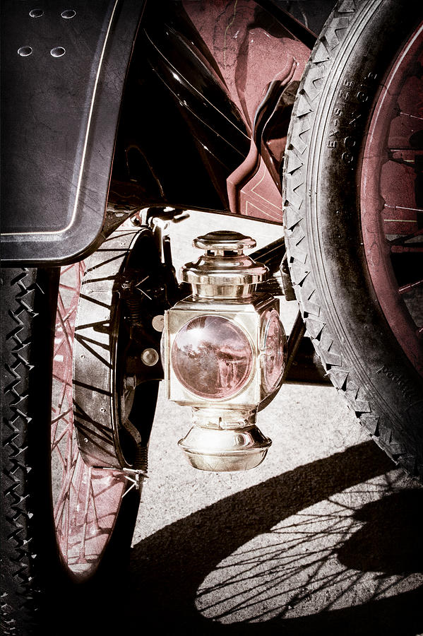 Classic Cars Photograph - 1911 Ford Model T Torpedo 4 Cylinder 25 Hp Taillight by Jill Reger