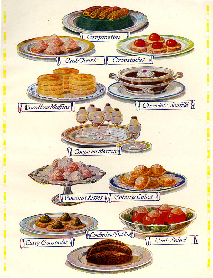 1920 Drawing - 1920s Uk Food Magazine Plate by The Advertising Archives