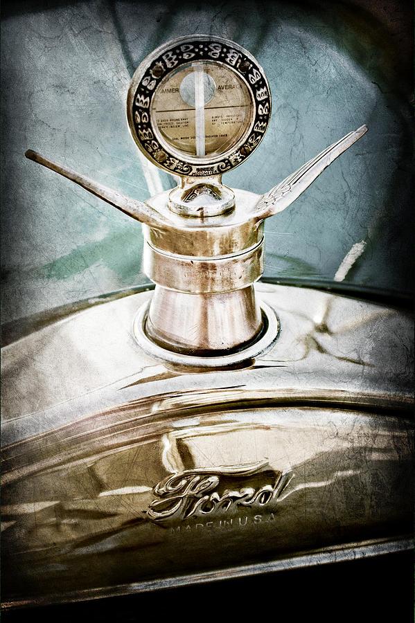 1923 Ford Model T Hood Ornament Photograph - 1923 Ford Model T Hood Ornament by Jill Reger