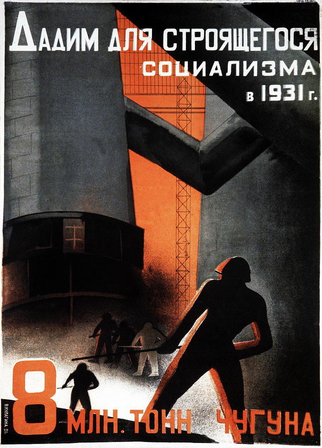 History Photograph - 1930s Soviet Propaganda Poster by Cci Archives