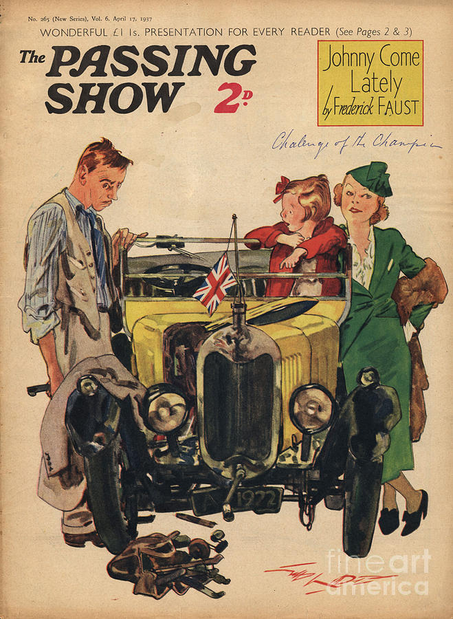 Cars Drawing - 1930s,uk,passing Show,magazine Cover by The Advertising Archives
