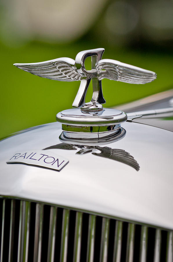 Car Show Photograph - 1937 Railton Rippon Brothers Special Limousine Hood Ornament by Jill Reger