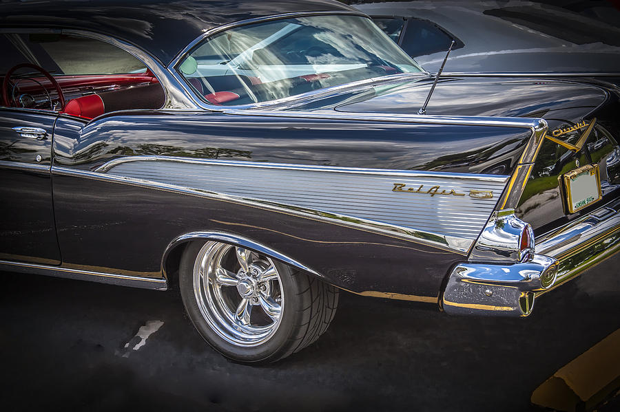 V8 Engine Photograph - 1957 Chevrolet Bel Air by Rich Franco