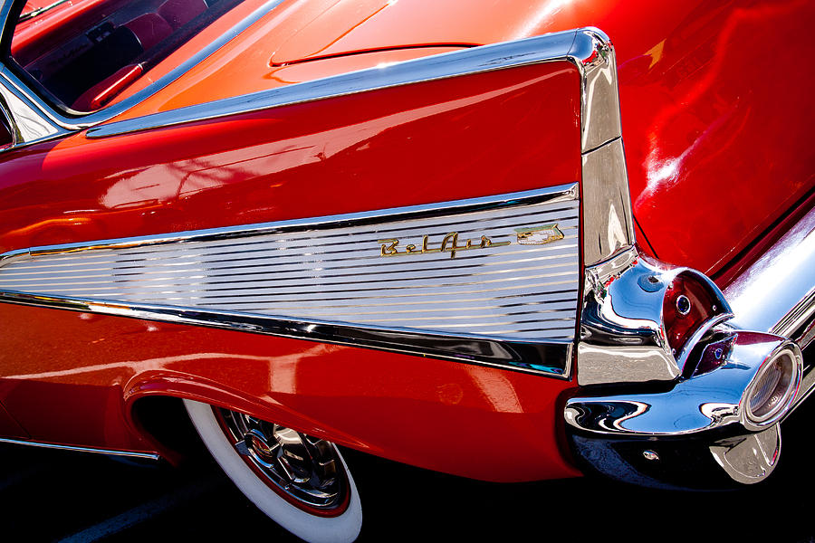 57 Photograph - 1957 Chevy Bel Air Custom Hot Rod by David Patterson