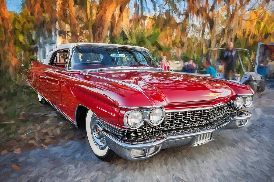 1960 Cadillac Eldorado Biarritz Convertible Painted Photograph By