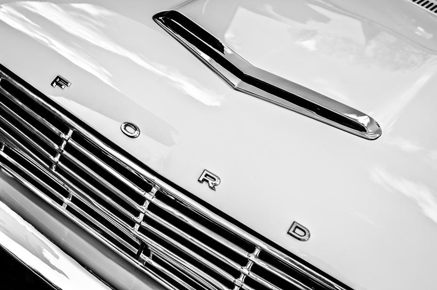 1963 Ford Falcon Futura Convertible Hood Emblem by Jill Reger