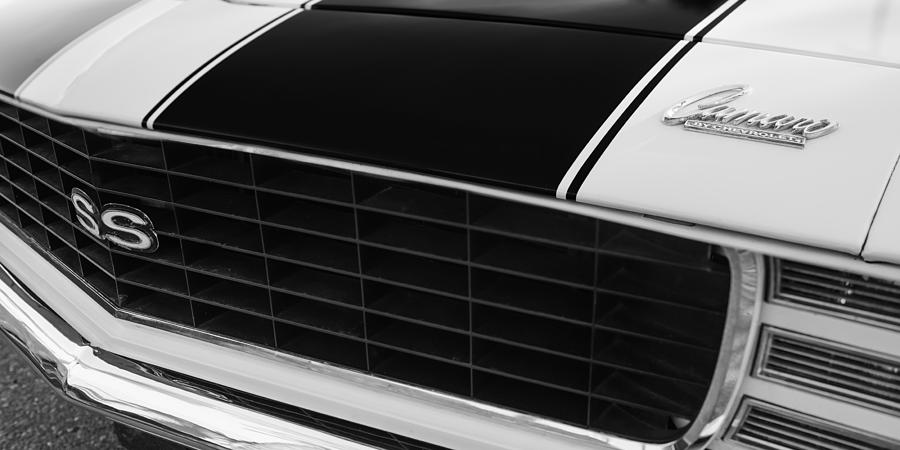 1969 Chevrolet Camaro Rs-ss Indy Pace Car Replica Grille Hood Emblems Photograph - 1969 Chevrolet Camaro Rs-ss Indy Pace Car Replica Grille - Hood Emblems by Jill Reger