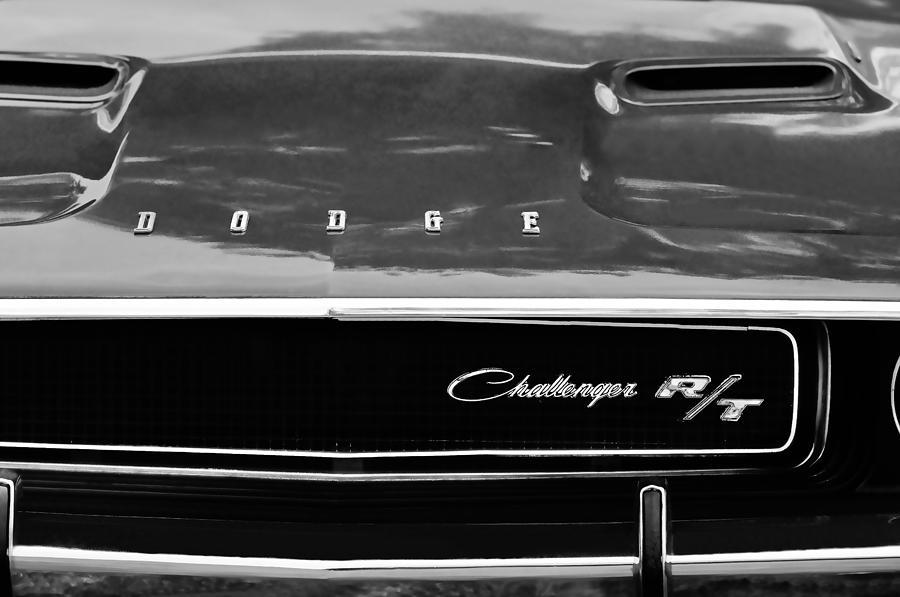 R T Photograph - 1970 Dodge Challenger Rt Convertible Grille Emblem by Jill Reger