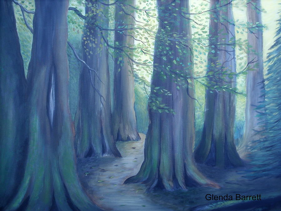 Original Painting - A Morning Stroll by Glenda Barrett