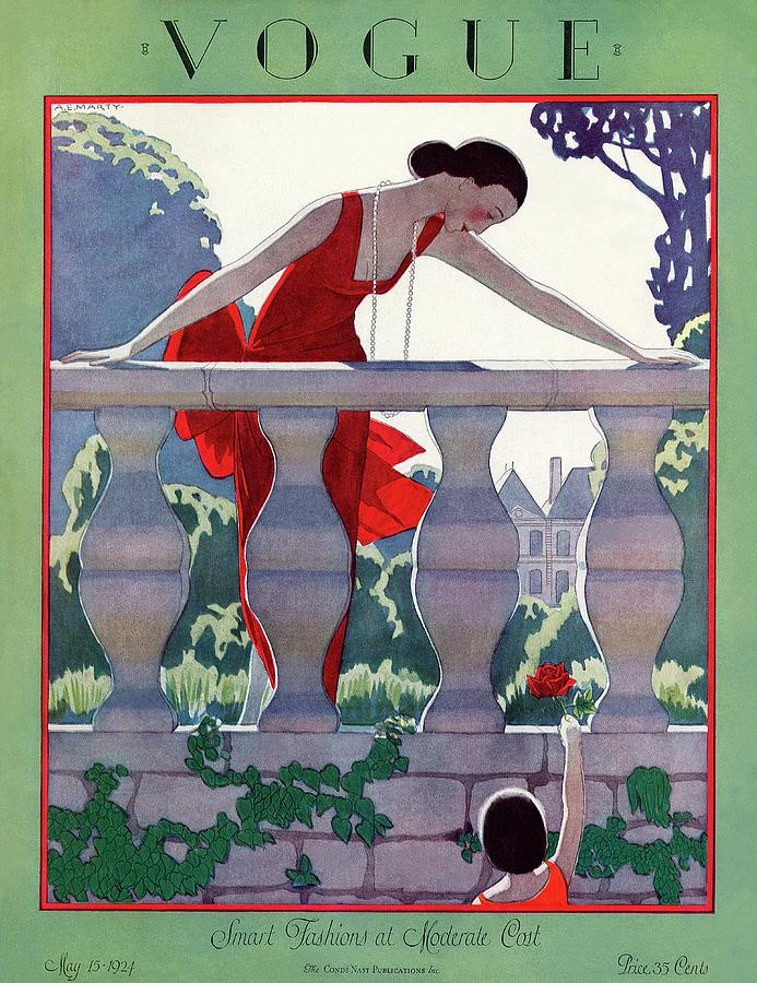 Illustration Photograph - A Vintage Vogue Magazine Cover Of A Woman by Andre E  Marty