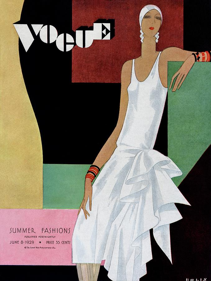 A Vintage Vogue Magazine Cover Of A Woman Photograph by William Bolin
