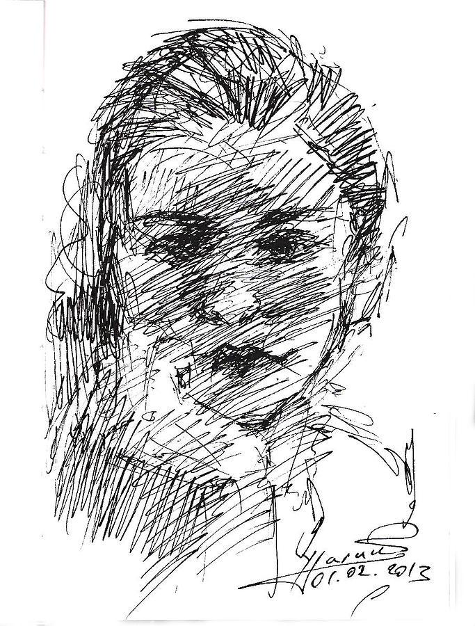 Sketch Drawing - ana by Ylli Haruni